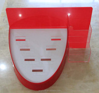 Red and white acrylic arc-shaped stan with high quality manufacturer