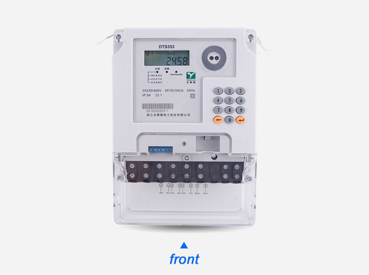 3 Phase Digital Smart Prepaid Energy Meter Electric Power Meter with LED Display Prepaid operating system