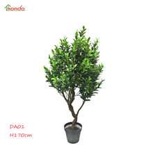 2018 Concise style decoration New arrival High Simulation Leaves ornamental artificial olive tree Olivia bonsai plants