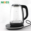 Cheaper 360 degree swivel base 1500w cordless glass electric kettle