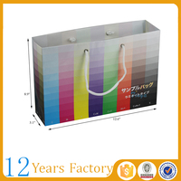 large shopping with handles color paper bag