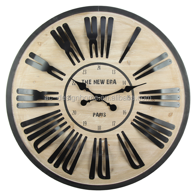 """PARIS"" IRON/WOODEN WALL CLOCK"
