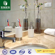 Wonderful crema marfil marble tile bathroom