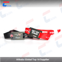 Factory price cheap MIFARE plus RFID polyester woven wristband