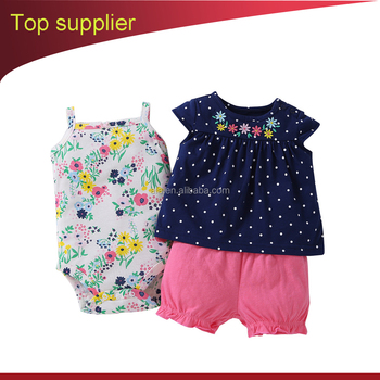 Hot selling clothes for babys Navy blue skirt short pants ruffled clothing set diaper rompers