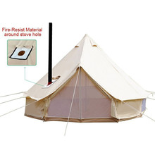 Cheap Luxury Cotton Canvas Family Camping Bell Tents with chimney hole for stove pipes