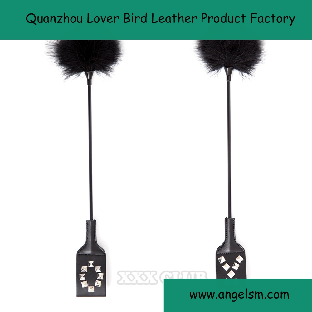 Flirt feather leather toys for womens Adult Games Sex Products Sexy Whip Policy Knout Novelty Toy Sex Toys Black Feather Whip