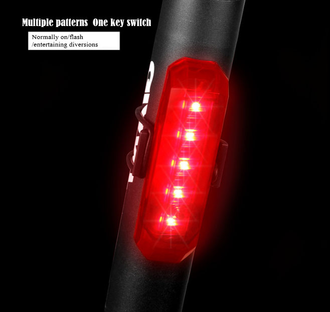 Hot sell Bicycle waterproof taillight LED bike light USB charge safe bike