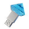Diamond shape usb flash drive for wedding gift, 2.0 usb flash 4gb pass H2 test
