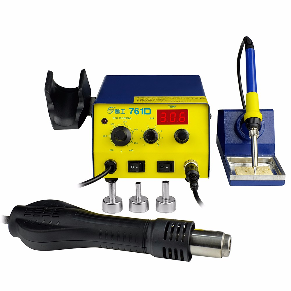 good price bga rewrok station YAOGONG 761D 2 in 1 solodering iron station with LED display