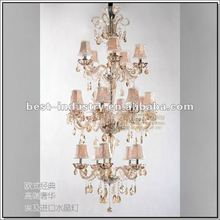 Top Quality Egypt Crystal Chandelier With 3-Storey, Big Project Lamp, Classical European Style Lobby Crystal Pendant Light