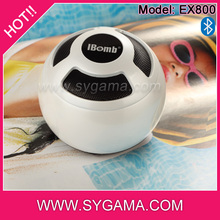 High quality round ball shaped high definition sound built-in bluetooth speaker