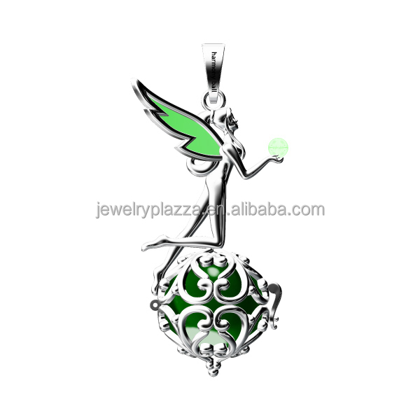 Newest Design 925 sterling silver flying angel ball harmony ball cage angel caller