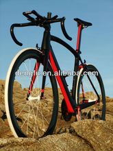 2015 Chinese full carbon road bicycle, complete carbon road bike , road racing bicycle carbon fiber fm098