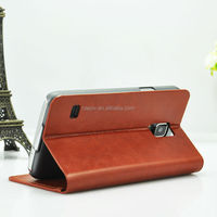 Cheap Wholesale Cell Phone Card Slot for Samsung note 4 Flip Cover Case with Stand