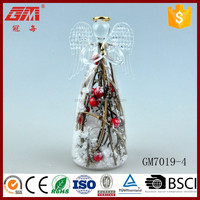Europe style decorating rattan glass angel crafts