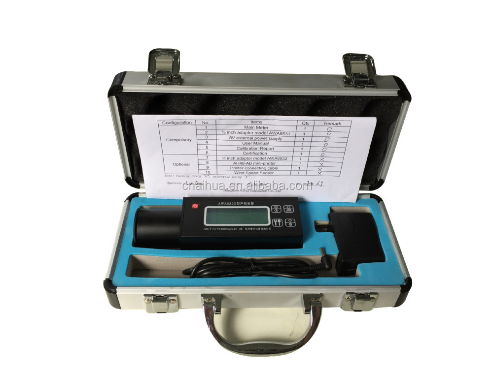AWA6223S/F Sound Level Calibrator