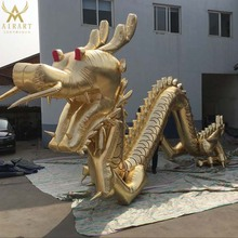 inflatable golden dragon Customized Dragon Mascot