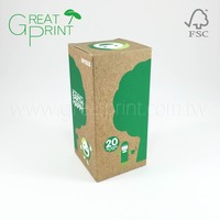 FSC Paper Eco Friendly Light Bulb Packaging Box