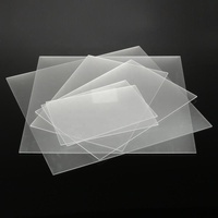 3mm One-Sized Frosted Acrylic Sheet Clear Satin Matte Finish Plastic Panel