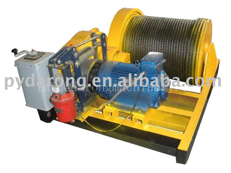 winder of cables, wire rope ( windlass )