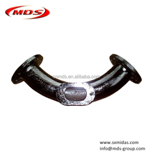 Ductile cast iron di double flanged long radius 90 degree bend with access