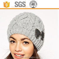 lady girl winter hat acrylic knitted hat