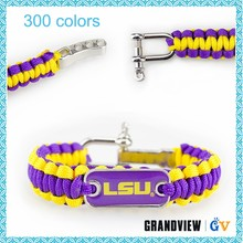 Outside sport fashion custom team logo paracord bracelet
