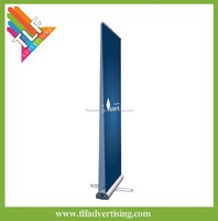Double side advertising roll up banner floor display stand