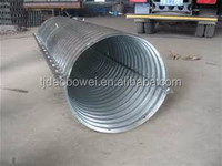 High Quality Half Circle Corrugated Galvanized Steel Culvert Pipe/Corrugated Culvert