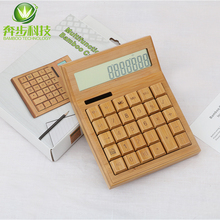 Fashion wooden electronic office gift cashier calculator for Chrismas gift