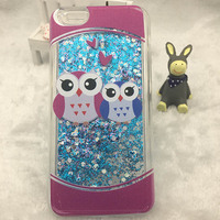 Fashion 3D Cartoon Animal OWl Design Silicone Cover Case for iPhone 6 Soft Edge Cover For Iphone 6 plus