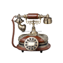 Fancy old style big button wooden telephone for elderly people