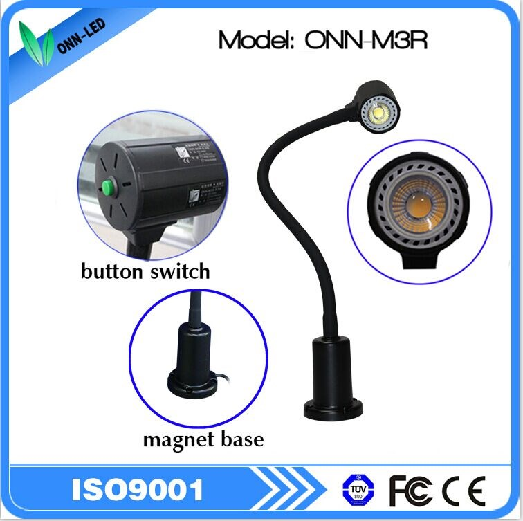 ONN-M3R 24v magnetic base led work light with flexible snake
