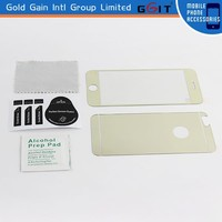 Electroplating front and back tempered glass screen protector for iPhone 6G, for iPhone 6G full body screen protector