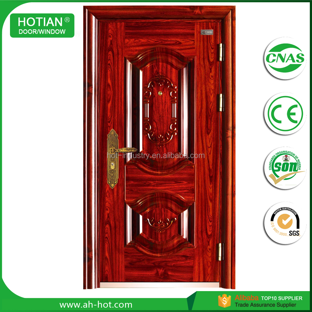 Cheap 24 X 80 Anti Theft Flat Exterior Doors High Quality 8 Panel
