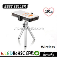 Hot selling Wireless mini projector DLP with TF card support 32GB