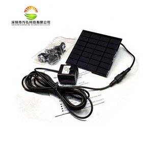 Outdoor Solar Panel Powered Water Fountain Pump for Garden Pond Bird Bath