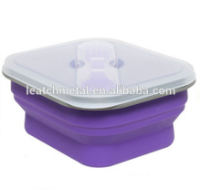 2017 New style Indoor and outdoor portable crisper folding bowl multi-function silicone food container/lunch box