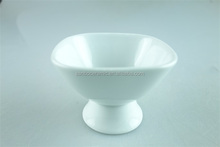 stock square ceramic white wine cup with foot