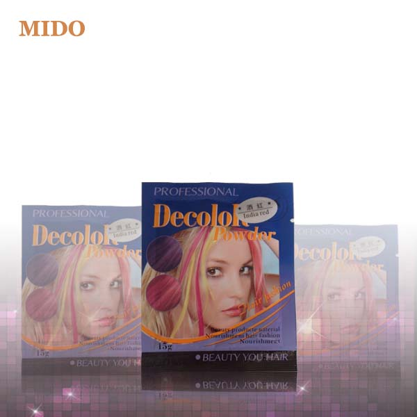 20 colors 15g packaging colored hair bleach