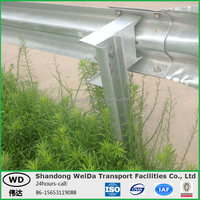 Steel Highway Guardrail Post Support