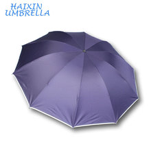 3 Folds 10 Ribs Cheap Promotion High Quality Men Summer Anti-UV Protection Umbrella With Logo Printing