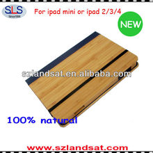 2015 new product bamboo cover case for ipad mini IBC07A