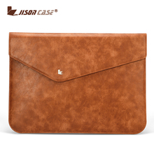 Handmade Stylish Sleeve Waterproof PU Suede Leather Laptop Computer Cover Pouch Bag Portable for 13 Inch MacBook