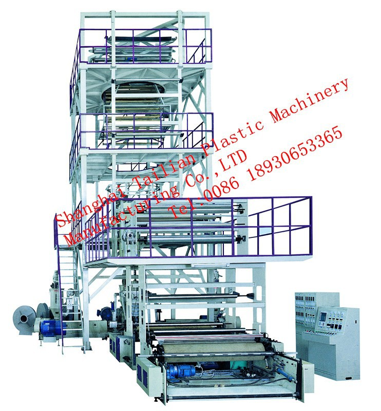 Professional produce Plastic Film Extruder Machine with Rotary Die Full Automatic Rewinding