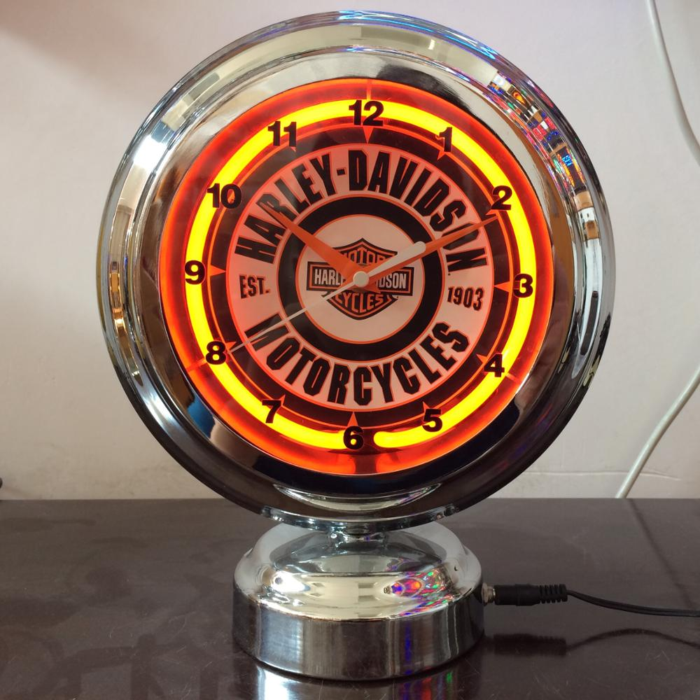 11inch neon light wall clock single neon light