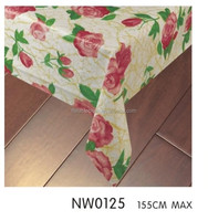western furit style table cloth with flannel backing