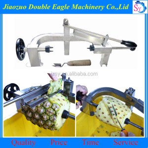 Home use manual pineapple corer slicer peeler/hand ananas bracteatus skin removing machine