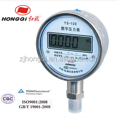 Digital air pressure gauge with LCD display